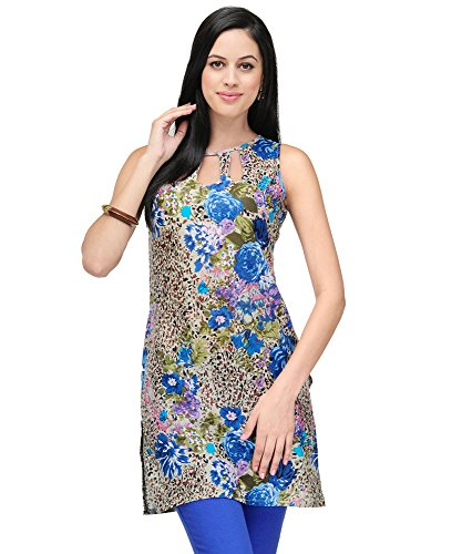 Yepme Melina Floral Print Kurti - Blue  available at amazon for Rs.209