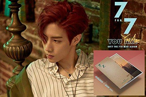 7FOR7 [GOLDEN hour B Ver.] GOT7 KPOP CD 7th Mini Album + Cover + Fotobuch + Fotokarte + Lyrics buch -