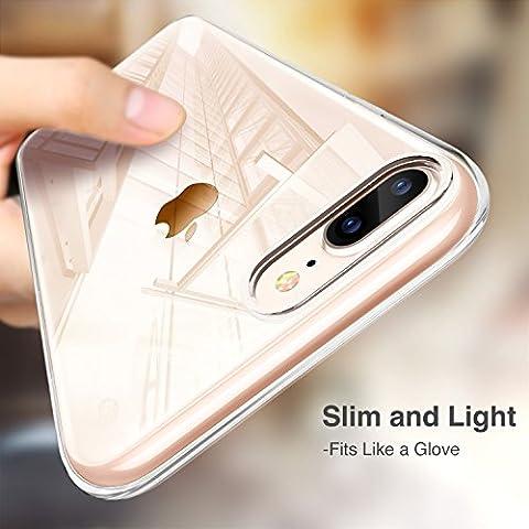 Cover iPhone 8 Plus [Supporta la Ricarica Wireless], Cover iPhone 7 Plus, ESR Custodia Trasparente Morbida di TPU [Ultra Leggere e Chiaro] con ...