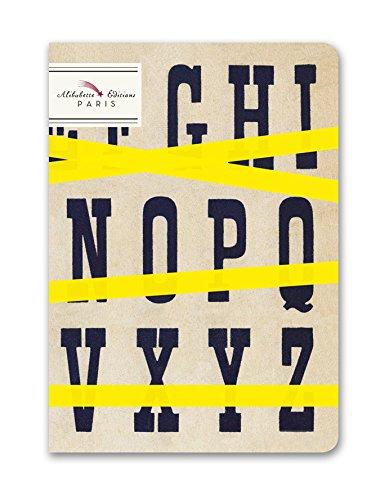 alibabette Editions Typo Top ungefüttert Zusammensetzung Notebook, 6,75by 12,1cm W/ecru Leinen Nähte 64Nummerierte Seiten (ch2p001) -