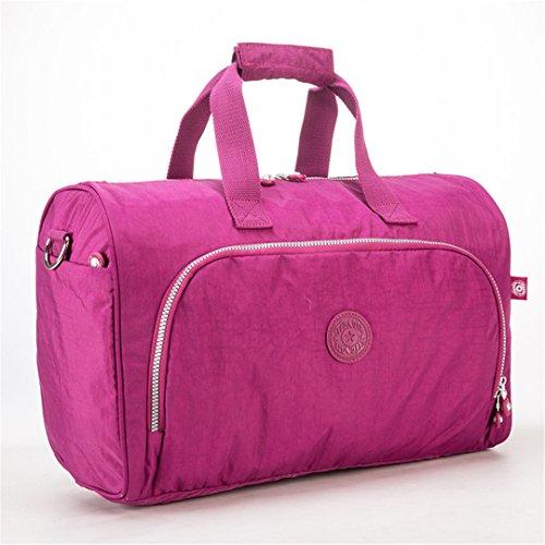 JOTHIN Nylon Handtasche große Kapazität Freizeit Fitness Reisegepäck Tasche kurze Reise Tasche 45X30X24cm(L*H*W) (Braun) Lila -H