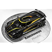 "Classique et Muscle Car ADS et art de voiture Koenigsegg Agera S Hundra Voiture Art Poster imprimé sur papier de 10 MIL Archival Satin Noir Top View, Papier, Black Top View, 20"" x 15"""