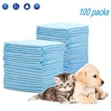 HyAdierTech Puppy Training Pads for Dog Pet Pee Absorbent Toilet Pee Wee Mat Anti Slip Leakproof   New Super Absorbent Size  Protects Carpets From Smelling   33cm x 45cm, 100 Pieces