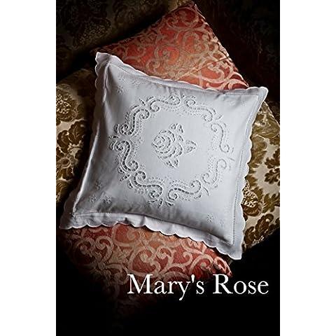 Copri Cuscino Ricamato a mano Mary's Rose