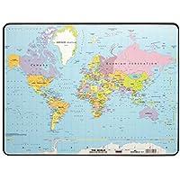 Durable 721119 Schreibunterlage (40 x 60 cm, Motiv: Weltkarte) 1 Stück transparent preisvergleich bei kinderzimmerdekopreise.eu
