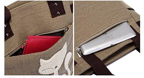 YAGGLE süße Handtasche Umhängetasche Katze Strass Dekor Damen schöne Tasche Dunkelblau Purpur