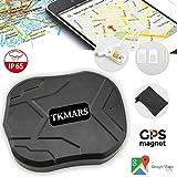 Hangang GPS Tracker magnétique 120 Jours Tracker GPS Tracker Localisateur GPS étanche Dispositif de Suivi en Temps Réel Véhicule de Voiture avec GPS Camion de Voiture sans Installation (905-2)
