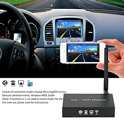 Kingcenton 2.4GHz WiFi Channel XH4.3 Car WIFI Display Link Airplay Mirroring/Miracast Allshare Cast,Screen Mirroring/DLNA for Android,IOS Smart Devices Phones Tablets Car &Home