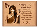 #2: TheLoveMoments - Happy Birthday Personalised Gift - Wooden Photo Frame by Engraving Process 4 inch x 5 inch