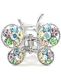 Glamorousky Schmetterling Klemme In Mutli- Farbe Austrian Elementkristallen (675)