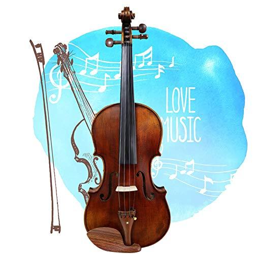 Yang violino violino elettrico esame beginner adult performance level raffinata e stabile del suono con il caso, arco, colofonia, 5 formati yyfang (color : brown, size : 4/4)
