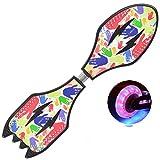 CZZ Bxh-Zweirad-Roller-Kinder-Zweirad-Flash-Rad-Drachenbrett Schlange Board Erwachsene Schaukel Vitality Board Jugend Skateboard,C,Skateboard