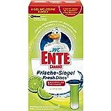 WC-Ente Frische-Siegel 1ner Pack Nachfüller Limone 36 ml verhindert Kalk & somit Keime, dauerhafte Frische, hygienische Anwendung, reinigt mit jeder Spülung, hält bis zu 6 Wochen