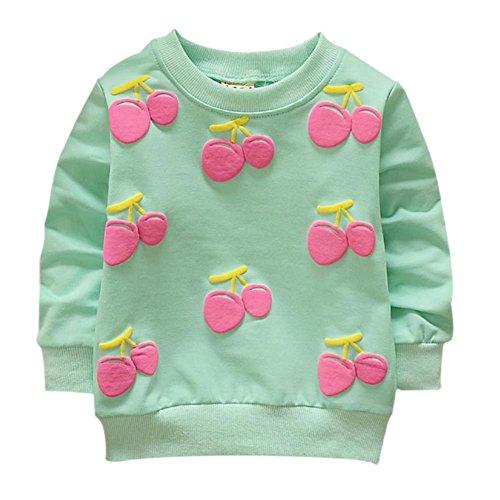 Brightup Baby Mädchen Süße Süßigkeitsfarben Sweatshirt Pullover, Langes Hülsen T-Shirt (Tee Crewneck Mädchen Langarm)