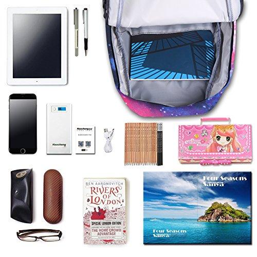 Neue heiße Verkauf Galaxy Rucksack unisex Schultasche Reisetasche (blue) - 3