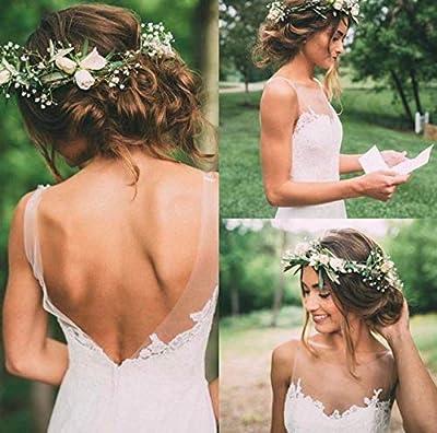 Accessoire de fleurs mariage et mariée pour chignon ou coiffure champêtre et bohème