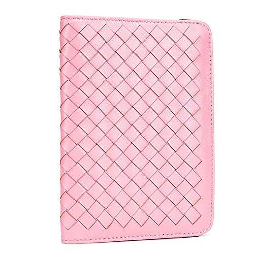 Frauen aus echtem Leder Ultraleicht dünn Passport Holder Wallet Schaffell Weaving Geldbörse (Color : Color Black, Size : OneSize) ()