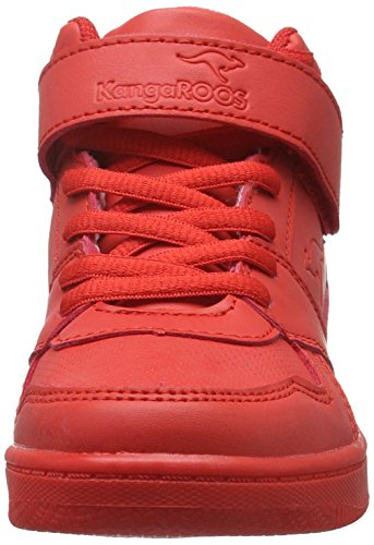 KangaROOS Skyline Kids, Baskets Basses Mixte Enfant Rouge - Rot (Red 600)