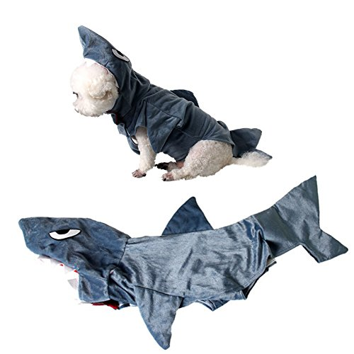 Imagen de bello luna funny pet shark costume dog cosplay apparel pet disfraz hoodie coat s alternativa