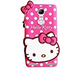 Mobiclonics® Hello Kitty Back Cover For Lenovo K6 Power (Pink)