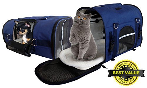 b1925c2d544 6-in-1 STURDY Airline Approved Pet Carrier Backpack, Front Pack, Shoulder  Bag, Dog Carriers, Cat ...