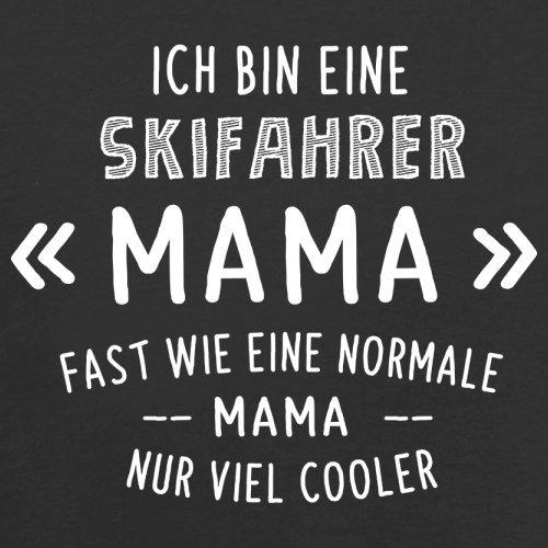 Ich bin eine Skifahrer Mama - Damen T-Shirt - 14 Farben Schwarz