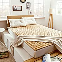 SANDM Ligero Felpa Primeros del colchón, Tri-Fold Hipoalergénico Futon colchón, Portátil Colchón