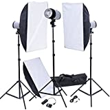 Kit Photo 3 Flashes Softbox 50x70 & déclencheur