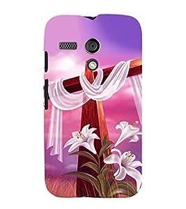HiFi Designer Phone Back Case Cover Motorola Moto G :: Motorola Moto G (1st Gen) :: Motorola Moto G Dual ( God Jesus Christmas Cross )