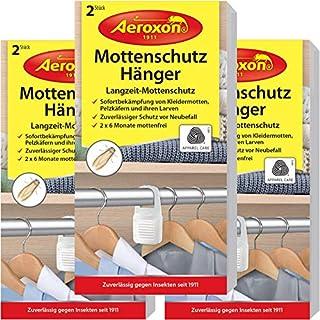 Aeroxon - Mottenschutz-Hänger - 3x2 Stück - Verlässliches Mittel gegen Motten im Schrank