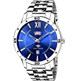 Eddy Hager Round Blue Round Dial Day And Date Displaying Men's Watch Eh-212-Bl