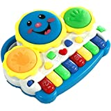 Drums Piano Music Learning Toy With Flashing Lights Best Gift For Kids - Multicolor