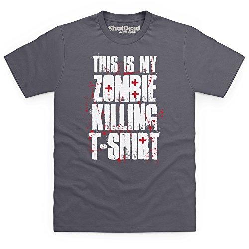 Zombie Killing T-Shirt, Herren Anthrazit
