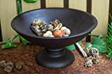 Homesake Black Wood Bowl with Stand Large