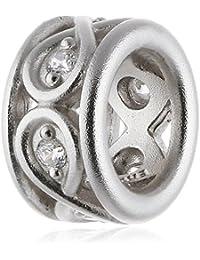 Endless 41353-1 - Abalorio de plata con circonita