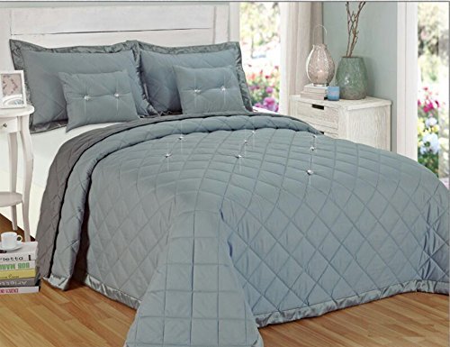 5-pieces-plain-dyed-box-stitched-diamond-decorated-quilted-reversible-bedspread-front-side-has-diamo