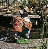 Garden Animals Collection Monty Mole - Decorazione da Giardino in Resina
