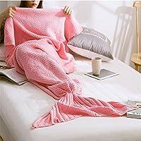 HDWN Figli adulti di sirena inverno coperta con lana spessa coperta divano acrilico tappeto lavorato a maglia , b , 70cmx140cm