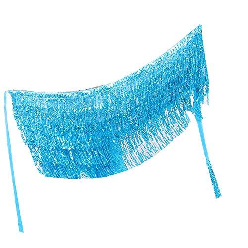 Kostüm Nova Fashion - IZHH Damen TäNzerin Rock, Damenmode Pailletten Bauchtanz Riemchen Taille Kette Rock KostüM Tassel Wrap Rock Club Carnival Mini Rock (Blau,One Size)
