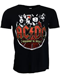 AC/DC Band Circle T-shirt Black Official Licensed Music