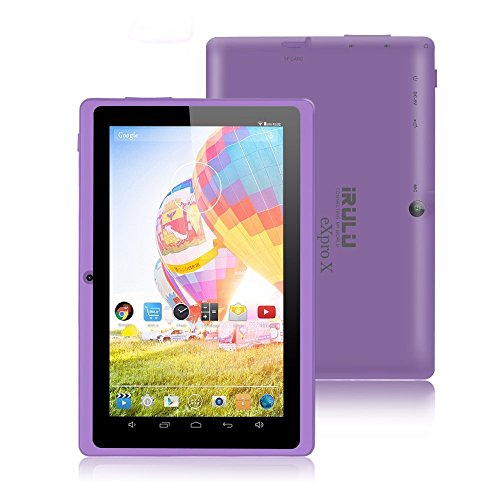 iRULU eXpro X1 7 pulgadas 8GB Google Android Tablet PC, Wi-Fi,resolución 1024×600, juegos, cámaras duales – Purple