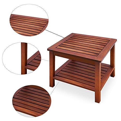 Sidetable Coffee Hallway Table Small Wooden Snack Outdoor Garden Furniture Coffee End Bistro Drinks Wooden Table