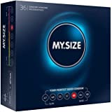 MY.SIZE MS6036 condooms maat 5, 60 mm, grote verpakking (36 stuks), Blauw