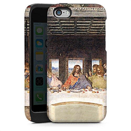 Apple iPhone 5 Housse Étui Silicone Coque Protection Léonard de Vinci La Cène Art Cas Tough brillant