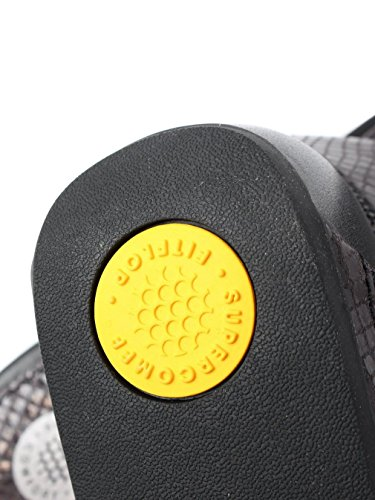 FitFlop™ Infradito in pelle Banda Micro-cristallo nero Black
