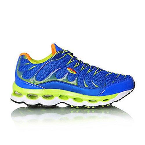 MForshop scarpe da ginnastica uomo running fitness sport sportive palestra corsa 9127 blu/verde-9127