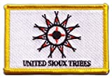 Flaggen Aufnäher Indianer United Sioux Fahne Patch +