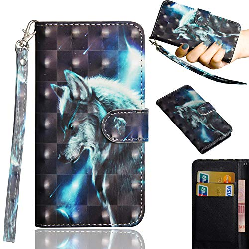 Kihying Hülle Schutzhülle für BQ Aquaris VS Plus Hülle Schutzhülle Stoßfest Anti-Fallen PU Leder Flip Wallet 3D Mode HandyHülle Schutzhülle Cover (Muster - YX02)