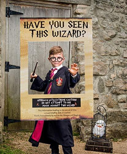 esen Assistenten gesehen? Photo Booth Prop Harry Potter inspiriert Photo Booth Frame Harry Potter Geburtstagsparty Photo Booth Requisiten für Harry Potter Theme Party Dekorationen ()