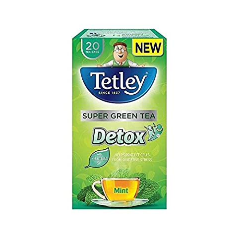 Tetley Super Green Detox Mint Tea Bags 20 per pack - Pack of 2